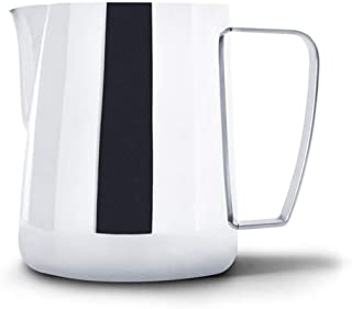 Precision Milk Frothing Pitcher for Professional Latte Art - Barista Hustle by World Champion Barista (Polished Steel, 600ml)