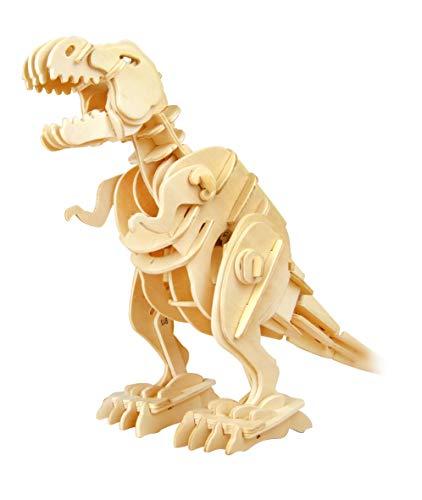Robotime 3D Puzzle - Dinosaurier Holzspielzeug Holz Modelle Bausatz Kinder - Roboter T-Rex Geschenk zum Geburtstag Weihnachten für Jungen und Mädchen 6, 7, 8 Jahre und älter