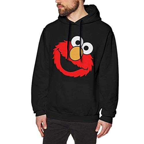 Ljkhas2329 Elmo Men's Hooded Sweatshirt Classic Pullover Sweater S