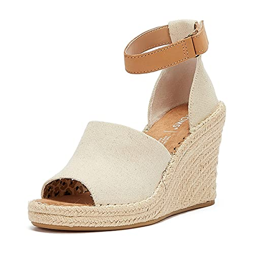 TOMS Marisol Wedge Natural Leather 9.5 B (M)