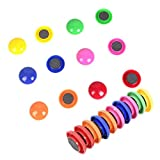 TIENO 60pcs Assorted Whiteboard Magnets Round Button Fridge Magnet Refrigerator Office Kitchen Decorative 6 Colors