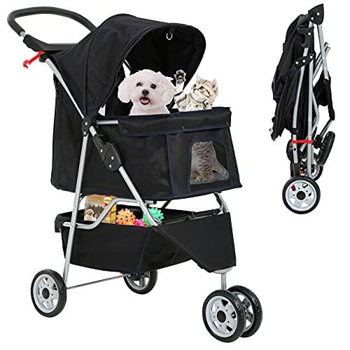 Best 3 Wheels Pet Stroller for Dog Stroller Cat Stroller, Lightweight and Foldable Pet Jogger...