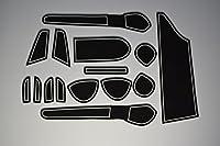 KINMEI(キンメイ) 日産 ノート E12 NOTE 専用設計 白 インテリア ドアポケットマット ドリンクホルダー 滑り止め ゴムマット ノンスリップ 収納スペース保護 NISANe12-w