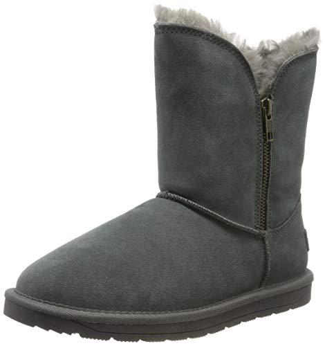 ESPRIT Damen Luna Zip Bootie Stiefeletten, Grau (Dark Grey 020), 40 EU