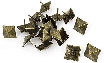 VHLL 20 pcs. 19 mm Square Shape Pushpin Tacks Thumbtacks, Bronze HIGHT QUALITY