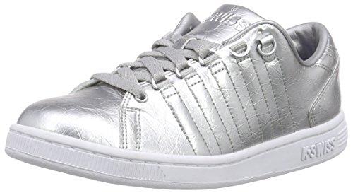 K-Swiss Damen Lozan III Aged Foil Sneakers, Silber (Silver/White), 39 EU