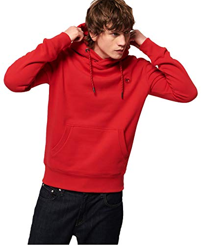 Superdry Men's Collective Hoodie Sweatshirt (Rouge Red, Small)
