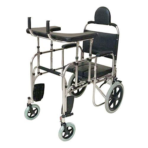 Rollator Walker mit Sitz, Kommode am Krankenbett, Rehabilitation Walking Training, Mobilitätshilfe für Erwachsene, Senioren, ältere Menschen