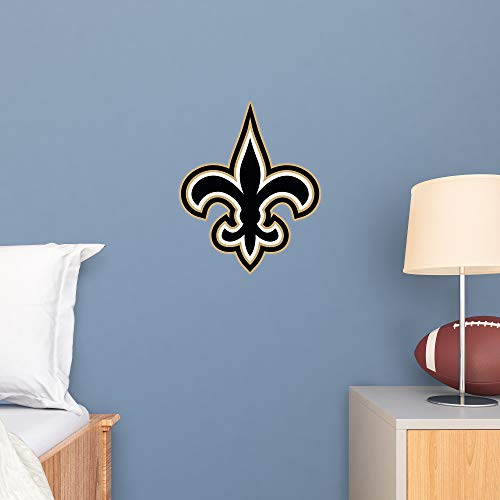 FATHEAD NFL New Orleans Saints - Logo Teammate- Officially Licensed Removable Wall Decal, Multicolor, Large - 89-03358