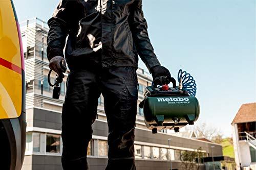 Metabo Kompressor Basic 160-6 W OF (Kessel 6 l, Max. Druck 8 bar, Ansaugleistung 160 l/min, Füllleistung 65 l/min, Max. Drehzahl 3500 /min, kompaktes Design) 601501000 - 2