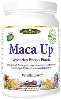 Paradise Herbs Maca Up Protein Powder, Vanilla, 15.87 Ounce