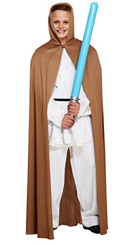 Henbrandt Costume Cape Enfant avec Capuche Marron Taille Moyenne Age 7 - 9 Ans