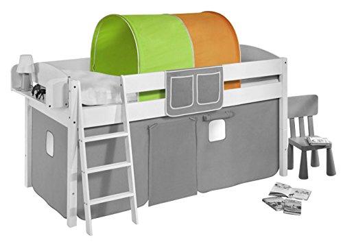 Lilokids Tunnel Grün Orange - für Hochbett, Spielbett und Etagenbett
