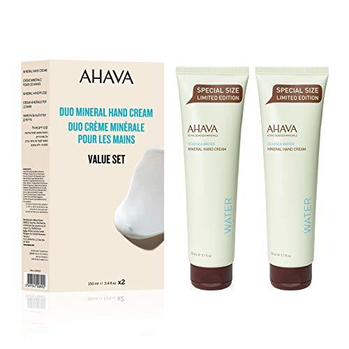 AHAVA Duo Active Dead Sea Minerals Hand Cream 2 x 150 ML - Value Set, 5.1 fl. oz.