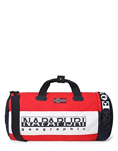 Napapijri Hering Duffle - Bolsa de Viaje (65 cm), Rojo Brillante. (Rojo) - NP0A4E47