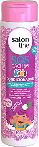 Condicionador S.O.S Cachos Kids, 300ml, Salon Line, Salon Line, Branco