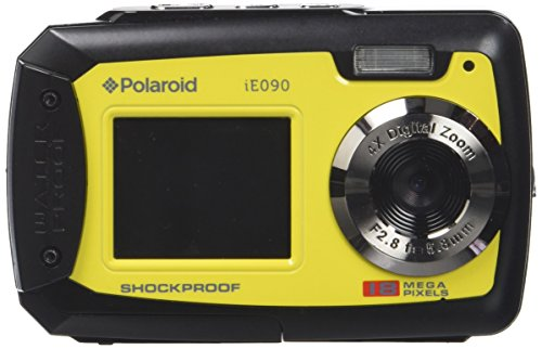 Polaroid iE090 Dual-Screen Waterproof Digital Camera (18 MegaPixel, 2.7 Inch Screen, 4x Digital Zoom)