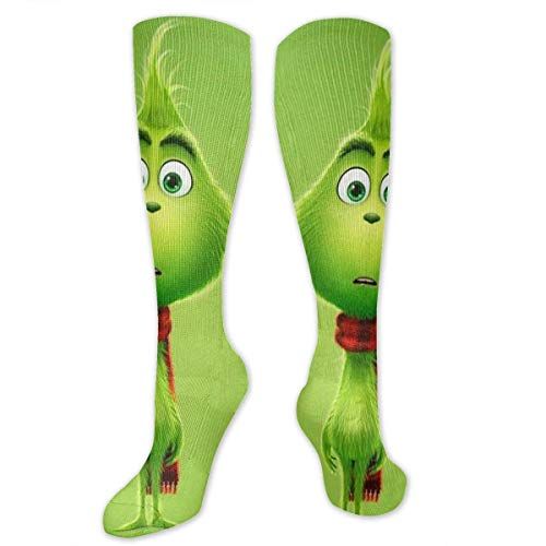 Apron bags Knee High Socks The Curious Grinch Knee High Compression Stockings Athletic Socks Personalized Gift Socks for Men Women Teens Girls
