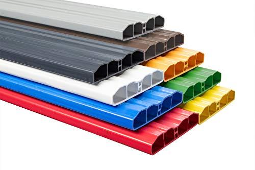 Zaunlatte PZL-09 | widerstandsfähiges Hart-PVC | Kunststoffzaun | Balkonbretter | pflegeleicht | Nussbraun | 80 x 16 mm | Hexim | 200 cm