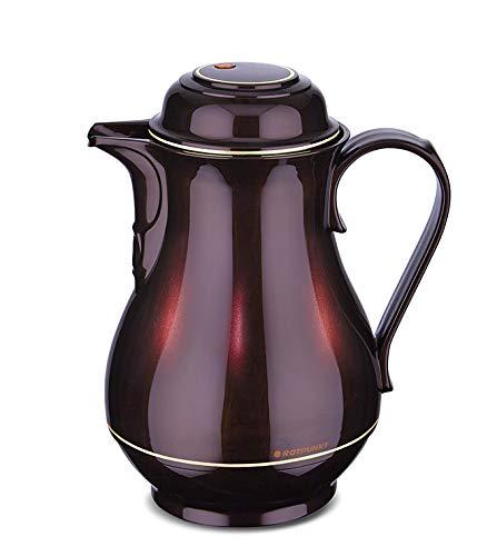 ROTPUNKT Isolierkanne 330 Christa 1,0 l | Zweifunktions-Drehverschluss | BPA Frei- gesundes Trinken | Made in Germany | Warm + Kalthaltung | Glaseinsatz (Black Cherry)
