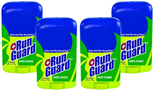 RunGuard Natural Travel Size 06 oz 4 Pack: Made with 100% PlantBased Ingredients Plus Beeswax Works for All Distances from 5K Walks/Runs to 100 Mile Ultra Marathons