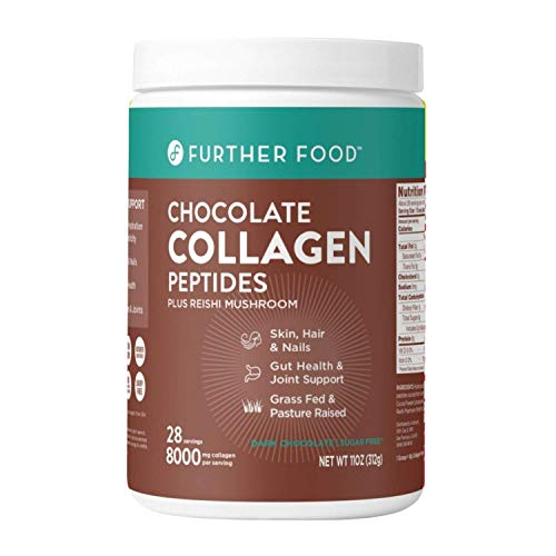 Collagen Peptide Powder, Dark Chocolate Collagen with Cacao, Grass-Fed Pasture-Raised Hydrolyzed Type 1 & 3 Protein, Gut Health + Joint, Hair, Skin, Nails, Paleo Keto Sugar-Free (28 Servings)