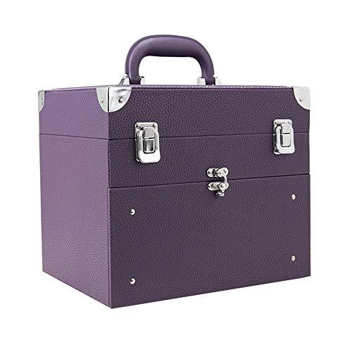 Storage Box Nail boîte de Rangement des cosmétiques,28 Grille avec des tiroirs à Double Multifonction de Grande capacité Cas Portable beauté Voyage imperméable et Anti-poussière