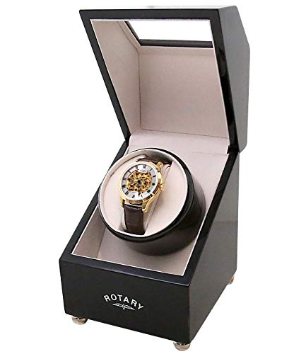 Rotary Watch Winder Box - Automatic Single Watch Winder with Quiet Motor – Wired or Battery...