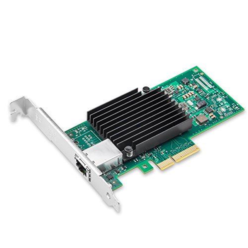 10Gb PCI-E NIC Network Card, Single Copper RJ45 Port, PCI Express Ethernet LAN Adapter Support Windows Server/Linux/ESX, Compare to Intel X550-T1