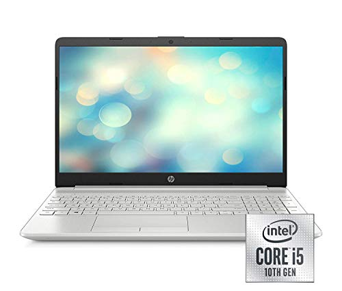 HP 15-dw1233ng (15,6 Zoll / Full HD) Laptop (Intel Core i5-10210U, 8GB DDR4 RAM, 512GB SSD, Nvidia GeForce MX130 2GB GDDR5, Windows 10 Home) silber