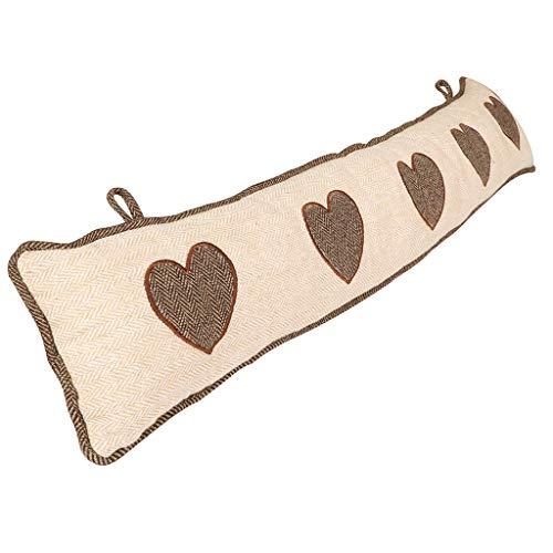 Burlete para puerta bordado, diseño de bordado, color beige