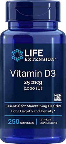 Life Extension Europe Vitamin D3 Soft Gels, 1000 IU, 250-Count