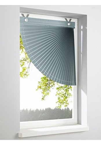 heine home Raffrollo blickdichter Plissee Fächer grau Schnurzug BxH 50x56 cm
