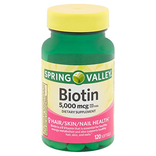 top rated Spring Valley-Biotin 5000 mcg, Super Strength, 120 Capsules 2020