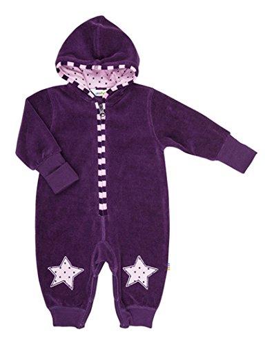 JOHA - bébé Fille Garçons Costume de Nicki avec Capuche MATIN étoile - avec étoiles - Blackberry, 50 (0 mois)