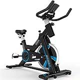 Bici de Spinning ajustable para oficina,Bicicleta estática casera de la pérdida de peso silenciosa,Equipo de fitness deportivo,Puede soportar 200 kg ( Color : Black , Size : 107*52.5*101.5-120cm )