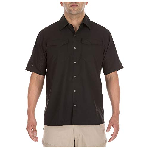 5.11 Men's Freedom Flex Woven Short Sleeve Tactical Shirt Black