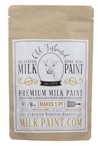 Old Fashioned Milk Paint Color: Pitch Black, Pint – Packaged as Powder