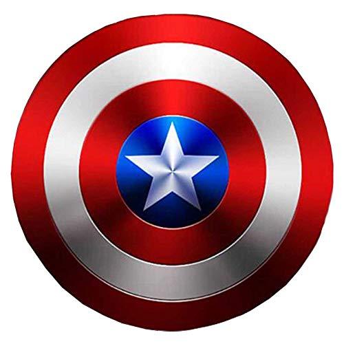 sookin Bouclier Captain America en MéTal Cosplay Accessoires Superhero Costume RéTro Bouclier Halloween 75e Anniversaire Bouclier AméRicain pour Adultes et Enfants Bar DéCorations Murales