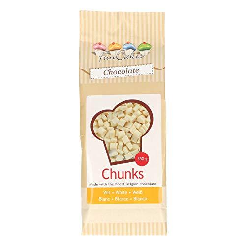 FunCakes Chocolade Chunks Wit, Heerlijke Bakvaste Chocolade om Toe te Voegen aan Taarten, Cupcakes, Muffins of Koekjes…