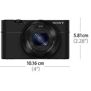 """Sony DSC-RX100 Fotocamera Digitale Compatta, Cyber-shot, Sensore CMOS Exmor R da 1"""" e 20.2 MP, Obiettivo Zeiss Vario-Sonnar T, con Zoom Ottico 3.6x, Nero"""