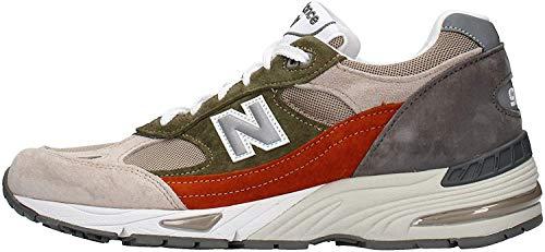 991GL New Balance 991 GL scarpa sneaker da uomo colore grigio Grigio 50