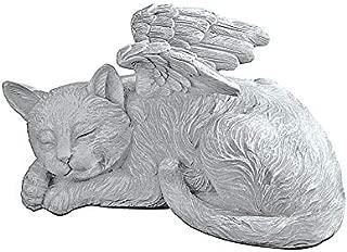 Design Toscano Cat Angel Pet Memorial  Grave Marker Tribute Statue, 10 Inch, Polyresin, Stone Finish