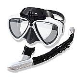 Maschere Snorkeling di Sicurezza Snorkeling Maschera Subacquea Occhiali Professionale Snorkel Se for Gli Amanti delle Immersioni Principianti Maschere per Adulti o Bambini