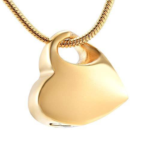 YXXB Amulett Halskette Asche Andenken Halten Sie Mein Herz Anhänger Einäscherung Urne Schmuck Halskette Trichter Füller Asche Andenken Denkmal Für Haustier Menschliche Einäscherung Asche-C