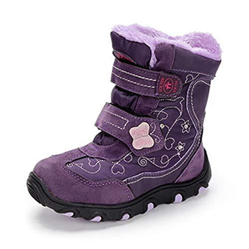 Q-YR Botas De Nieve para Niños Más Velvet Botas De Tobillo Planas Cálidas Actividades Al Aire Libre Anterior Y Zapatos DE ALGODÓN Abajo,27