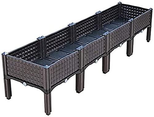 Bandeja Semillas Jardinera de plástico para interiores y exteriores, caja de cultivo, cama de jardín elevada, cajas de plantación elevadas para verduras frescas, hierbas,...