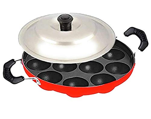 Bahurani Super Testy Appam with Lid (Aluminium,Non-Stick)