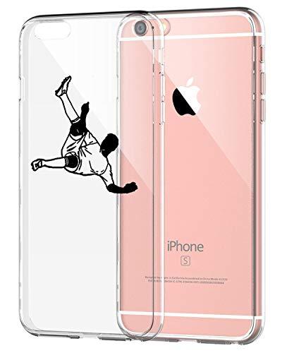 Caler Funda iPhone 6 iPhone 6S Case, Suave TPU Gel Silicona Ultra-Delgado Ligera Anti-rasguños Dibujos Patrones Imagen Lindo Carcasa para iPhone 6 iPhone 6S (Jugando al fútbol)