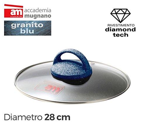 Tapa vidrio 28cm para ollas cacerolas y sartenes - Accademia Mugnano G